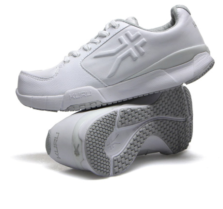 Kinetic White Walking Shoes